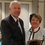 Dr. Ann Williams with Penn State President Rodney Erickson