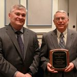 2015 Shirley Hendrick Award Recipient Dr.Hampton'Nels'Shirer with Penn State President Rodney Erickson