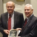 2012 Shirley Hendrick Award recipient Dr. R. Keith Hillkirk with Penn State Vice President Rodney Erickson