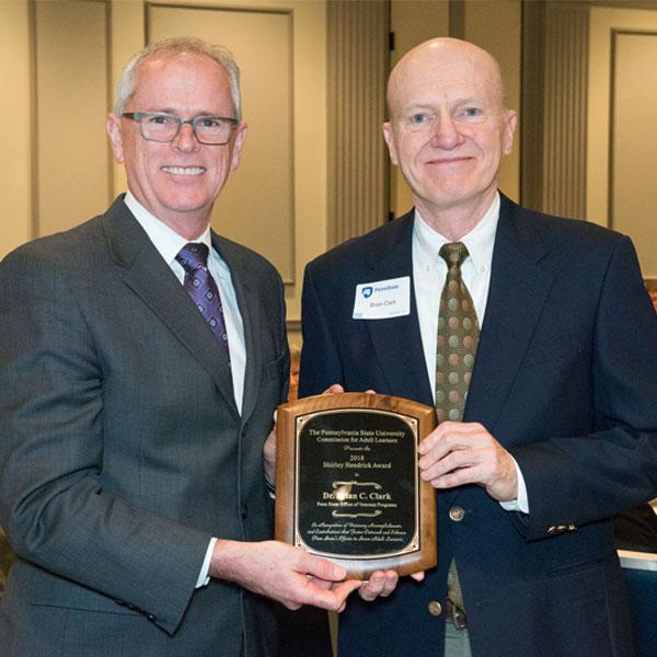 Shirley Hendrick Award recipient Dr. Brian C. Clark